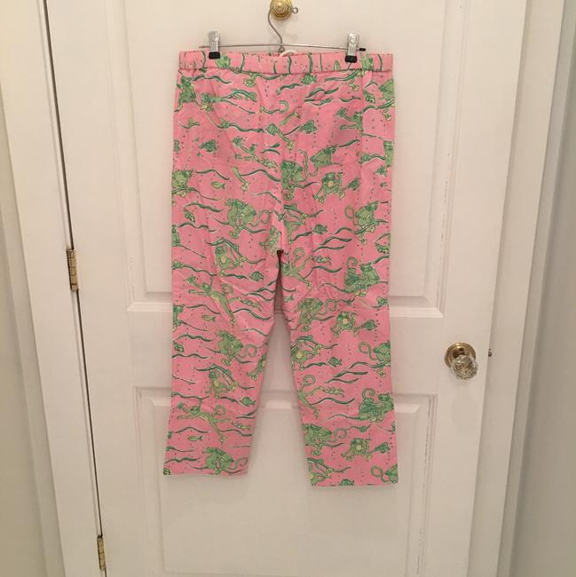 Lilly Pulitzer Capris Pink and Green Image 2