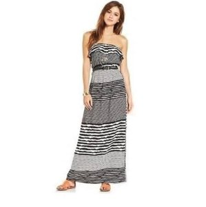 Black & White Maxi Dress by Trixxi Maxidress Summer Striped Designer