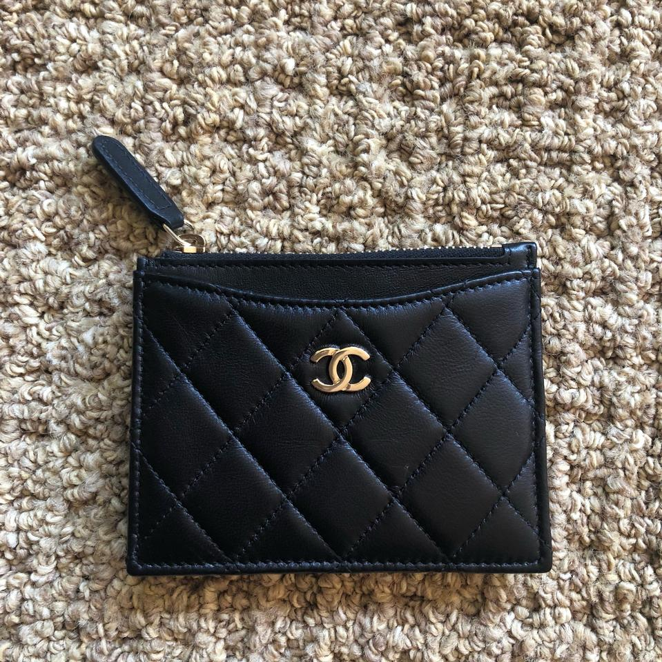 c1aaa64b2c95d4 Chanel CHANEL Classic Lambskin O-Card Holder Zip Coin O-Case credit card  Wallet ...