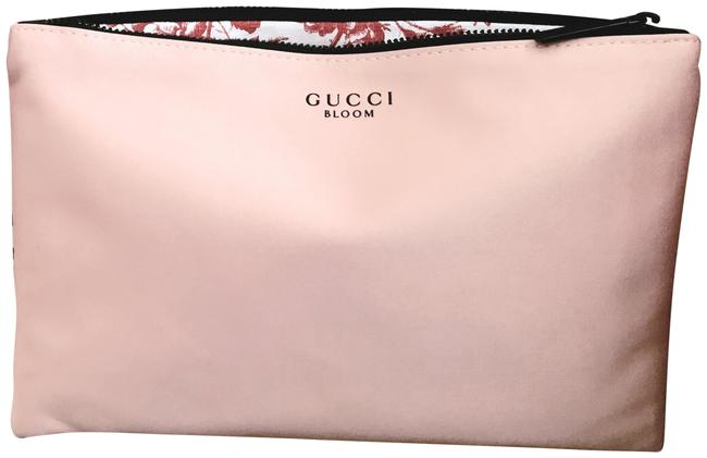 Item - Floral Cosmetic / / Light Pink Satin Clutch