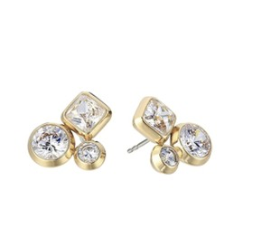 Michael Kors NWT MICHAEL KORS GOLD TONE & CRYSTAL CLUSTER STUD EARRINGS W DUST BAG