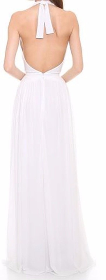 ISSA London White Halter Gown Long Formal Dress Size 2 (XS) - Tradesy
