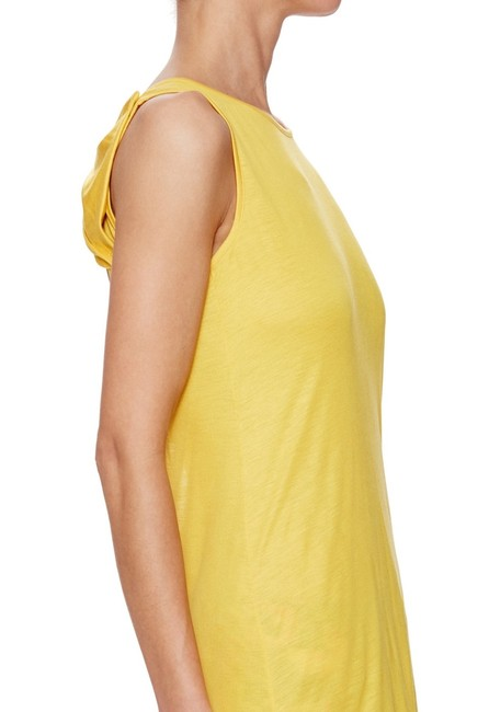 Love Moschino Bow Open Back Scoop Back Cut-out Jersey T Shirt Yellow Image 1