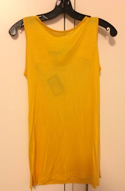 Love Moschino Bow Open Back Scoop Back Cut-out Jersey T Shirt Yellow Image 4