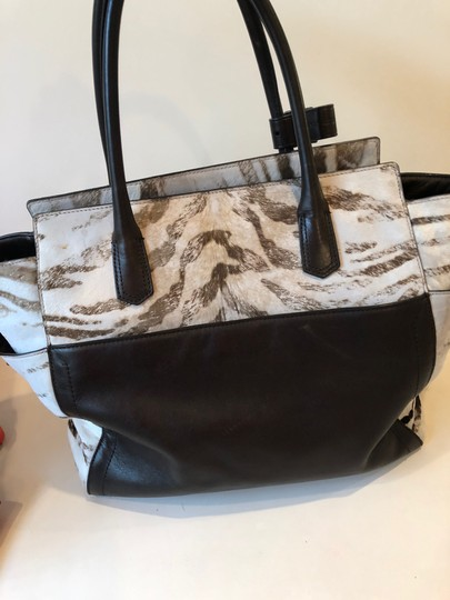 Reed Krakoff Ponyhair Leather Zebra Tote in Brown and Cream Image 3