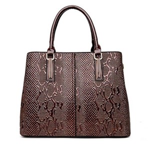 Other Crocodile Embossed Handbag Satchel in Brown