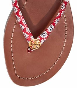 Tory Burch New Thong New Slide New Tag New Flip Flop New Flop RED Sandals