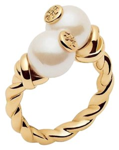 Tory Burch New! Tory Burch ROPE LOGO BEAD RING