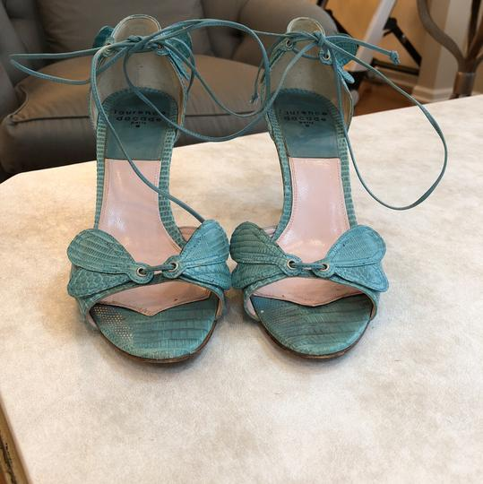 Laurence Dacade Teal Sandals Image 2