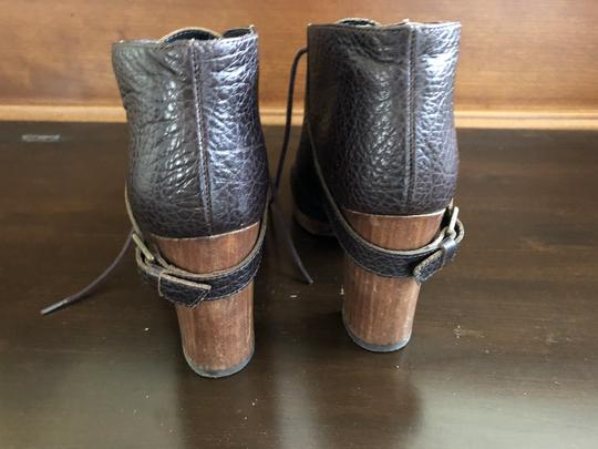 Bocage Leather Buckle Lace Up Brown Boots Image 3