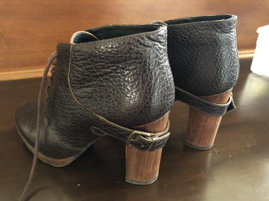 Bocage Leather Buckle Lace Up Brown Boots Image 4