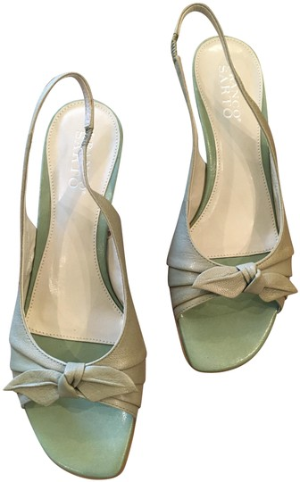 Franco Sarto Slingback Pale Green Pumps Image 0