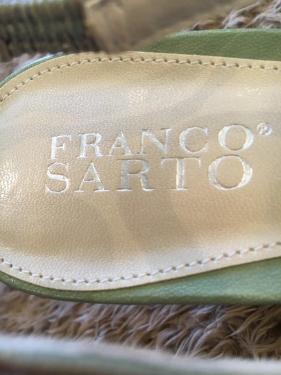 Franco Sarto Slingback Pale Green Pumps Image 3