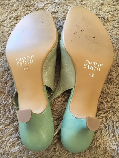 Franco Sarto Slingback Pale Green Pumps Image 7