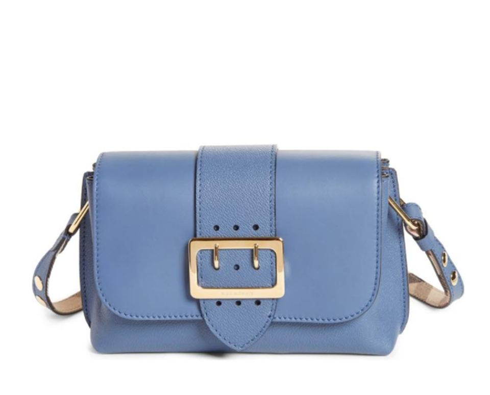 87b868490147 Burberry Medley Small Steel Blue Leather Cross Body Bag - Tradesy