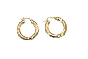other 14 K Yellow Gold 4.5 mm Hoop Earring for Ladies