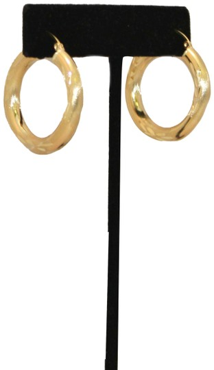 other 14 K Yellow Gold 4.5 mm Hoop Earring for Ladies Image 1
