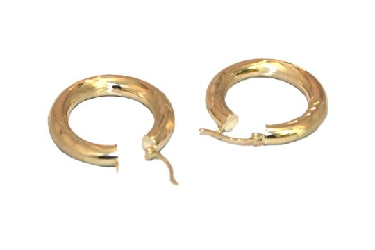 other 14 K Yellow Gold 4.5 mm Hoop Earring for Ladies Image 2