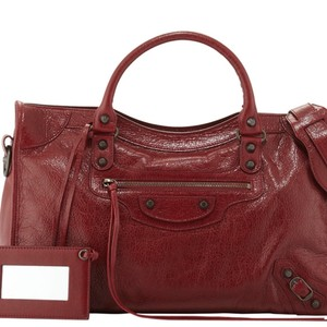 Balenciaga Tote in Dark Red