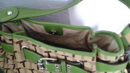 Tignanello Satchel in Tan/brown with green trimmings Image 3