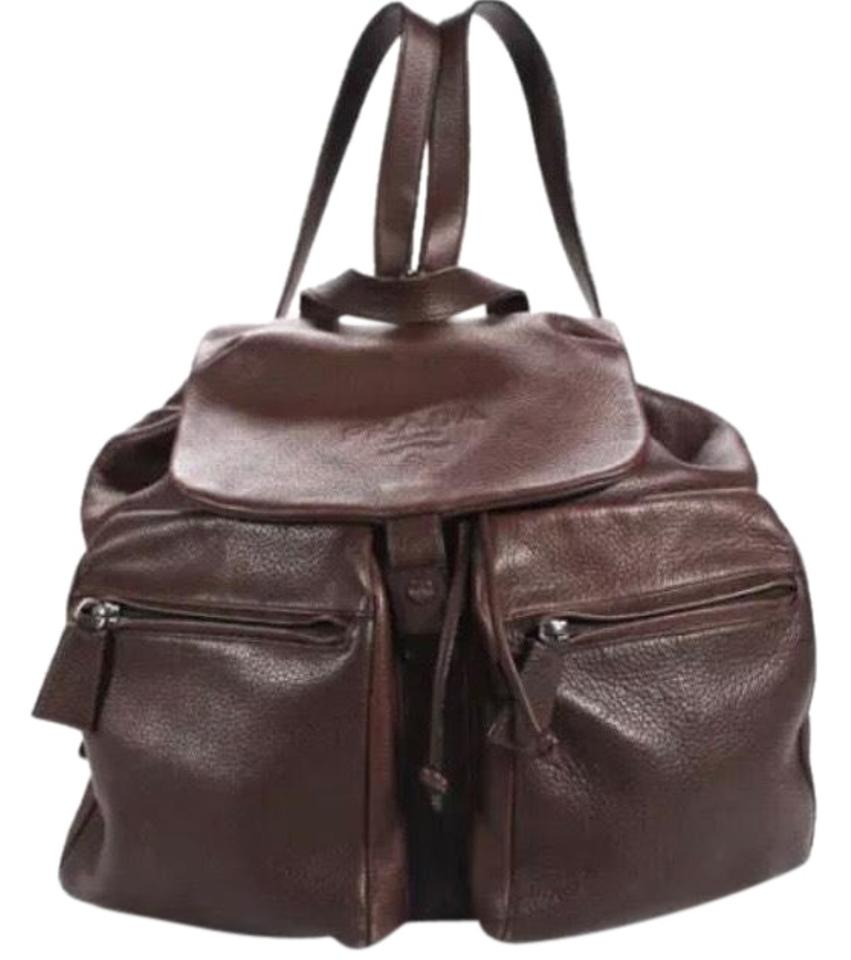 375c86a5c Prada Large Snap Unisex Brown Leather Backpack - Tradesy