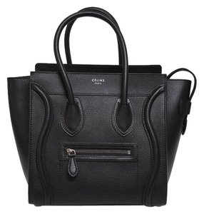 Cline Pebbled Leather Tote in Black