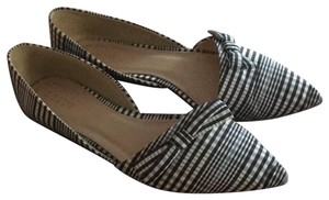 J.Crew Black and blue plaid Flats