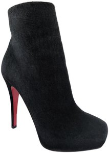 Christian Louboutin Thigh High Ankle Platform Heel Black Boots