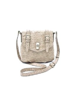 Marc by Marc Jacobs Ostrich Messenger Cross Body Bag