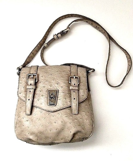 Marc by Marc Jacobs Ostrich Messenger Cross Body Bag Image 3
