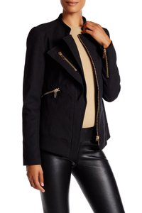 Thomas Wylde Asymmetric Zip Moto Black Blazer