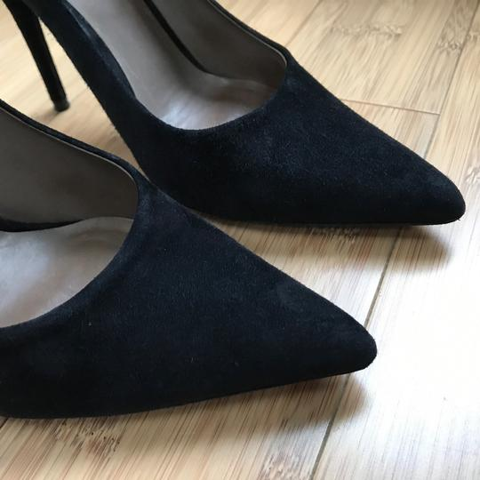 e9f23009394c Calvin Klein Collection Black Suede Leather Black   Italy   Pumps ...