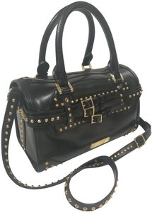 Burberry Studded Leather Boston Cross Body Bag