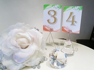 Orange And Green Swirl Table Numbers