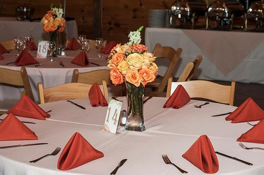 Orange Green And Swirl Table Numbers Other