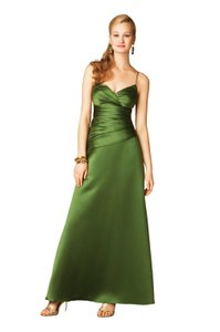 Alfred Angelo Forest Green Satin 7199 Formal Bridesmaid/Mob Dress Size 10 (M)