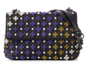 Bottega Veneta Bv.p0117.01 Multicolor Embroidered Olimpia Woven Shoulder Bag