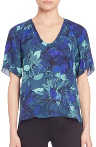 Rebecca Taylor Top Rainstorm Blue