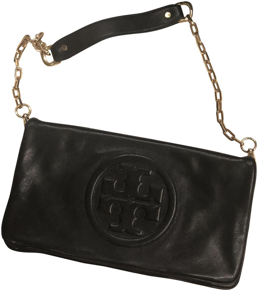 f7f91561f Tory Burch Evening Bag Black Lambskin Leather Clutch - Tradesy