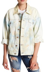 Free People Multi-Color Womens Jean Jacket
