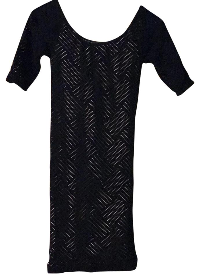 85006435a10b bebe Black with Nude Underlining Sofop1019600 Night Out Dress. Size  2 (XS)  Length  ...