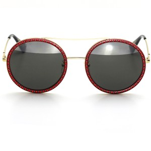 d0c74ed53fe Gucci Brand New Gucci 0061S Round Sunglasses Red and Gold Frame