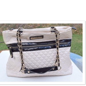 Marc New York Tote in cream and black