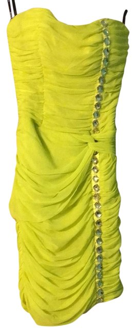 Item - Yellow-green Bblw20 Short Night Out Dress Size 4 (S)