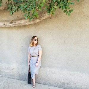 Gray Maxi Dress by Coldwater Creek