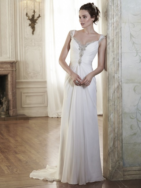 Item - Ivory Chiffone Flora Destination Wedding Dress Size 10 (M)
