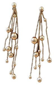 Vintage 14K gold bead dangle earrings