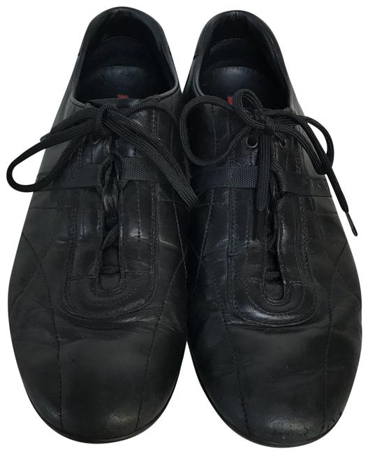 Item - Black Leather Lace Up Casual Men's Sneakers Pumps Size US 10.5 Regular (M, B)