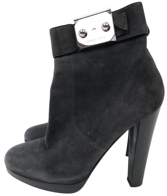 Item - Gray Suede Platform Ankle Boots/Booties Size EU 38 (Approx. US 8) Regular (M, B)