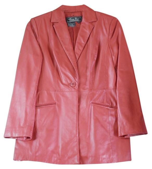 Terry Lewis Classic Luxuries Red Lambskin Leather Blazer